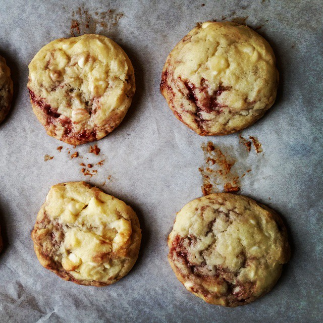White #chocolate #raspberry #cookies #food #recipe on the blog! #foodfiles