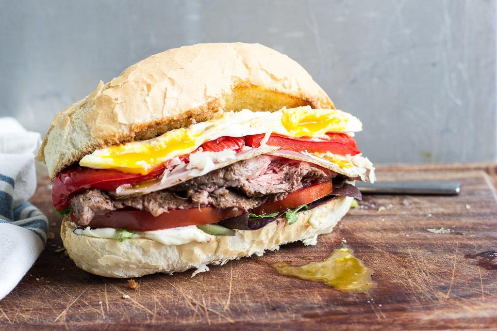 Chivito (Uruguayan Steak Sandwich) - The Hungary Buddha Eats the World